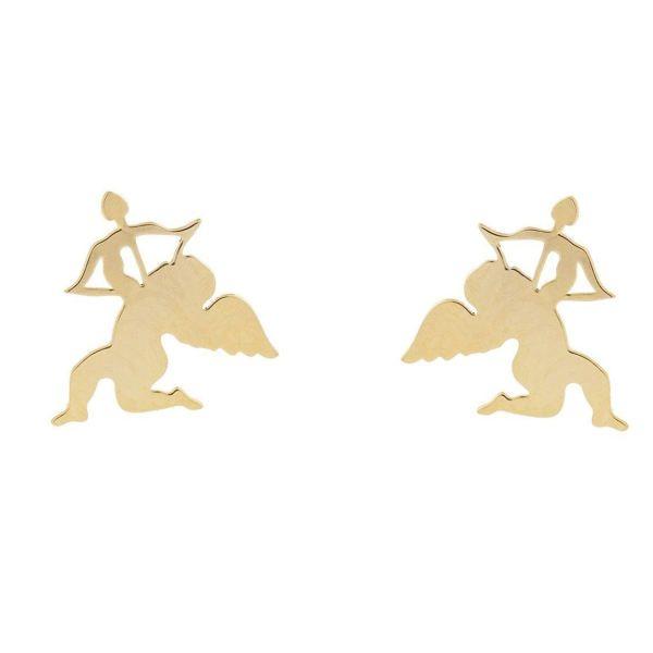گوشواره طلا 18 عیار زنانه کانیار گالری کد GOA100 -  - 2