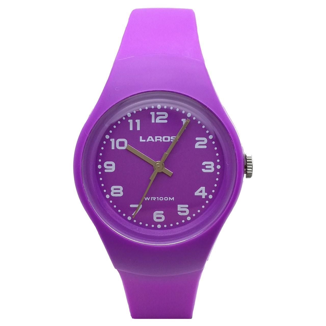 ساعت مچی عقربه ای لاروس مدل LC-A300-PurpleWhite