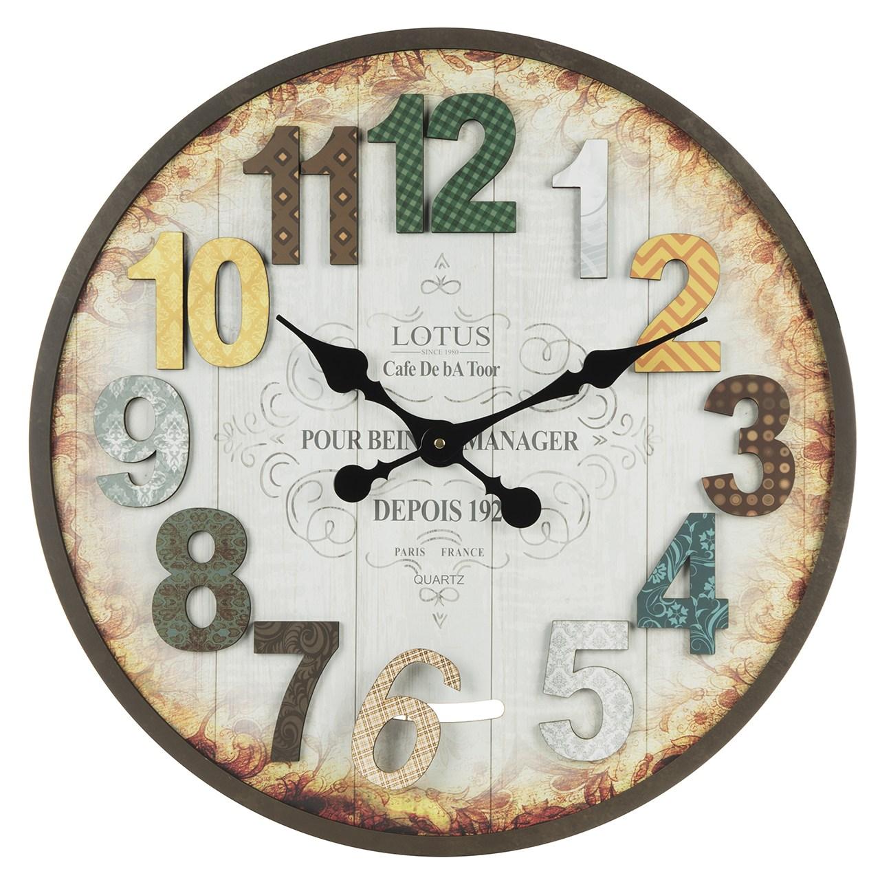 خرید ساعت دیواری لوتوس مدل MA-3323