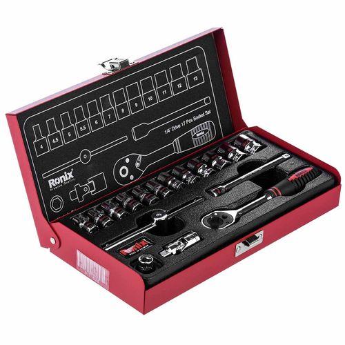 مجموعه 17 عددی آچار بکس و سری بکس رونیکس مدل RH-2617