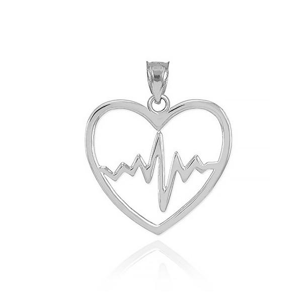 مدال نقره ترمه مدل قلب و ضربان Termeh a23