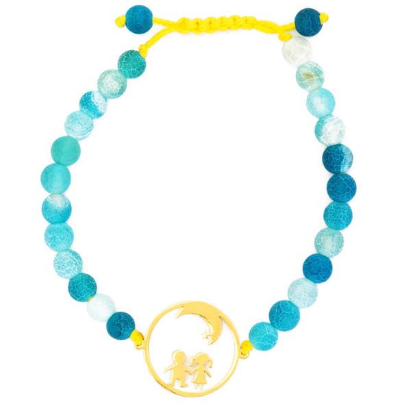 دستبند نوژین مدل ماه آبی