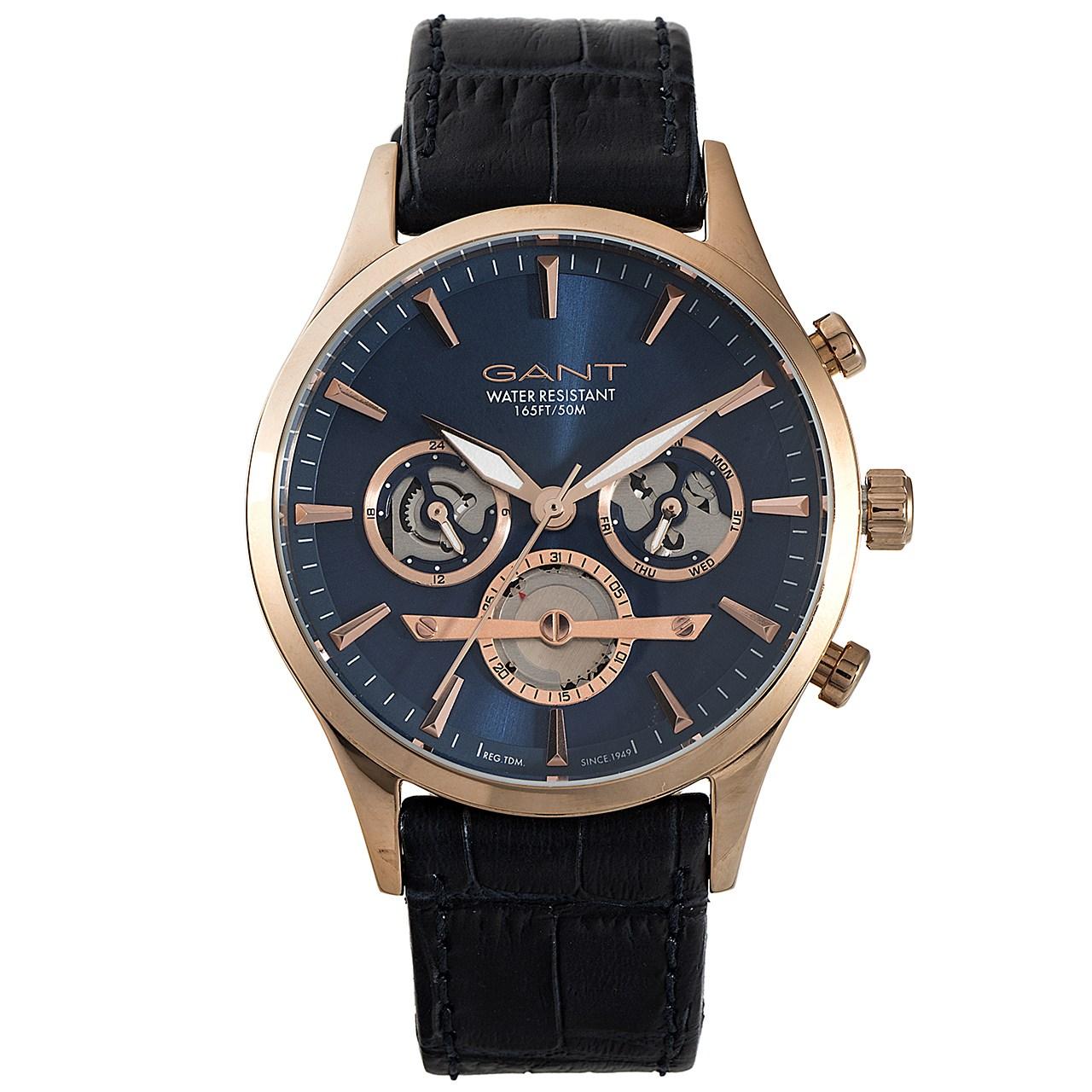 ساعت مچی عقربه ای مردانه گنت مدل GW005002
