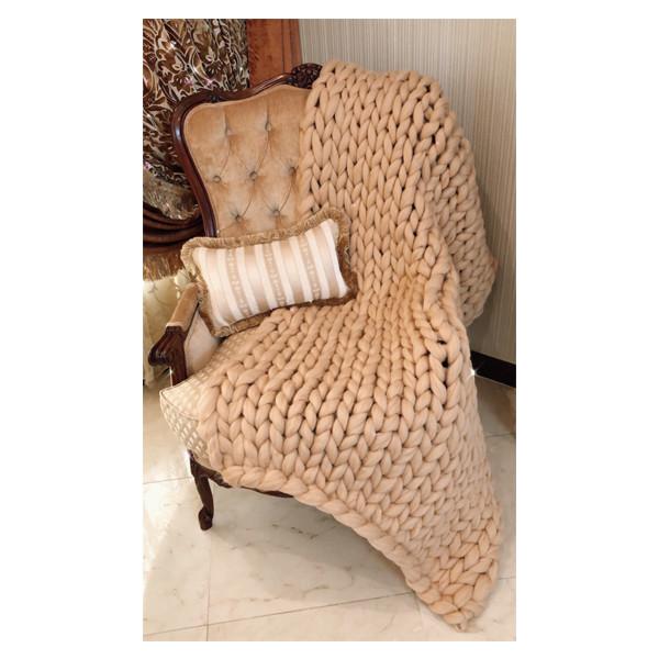 شال مبل و تخت مدل chunky سایز 90x100 سانتیمتر
