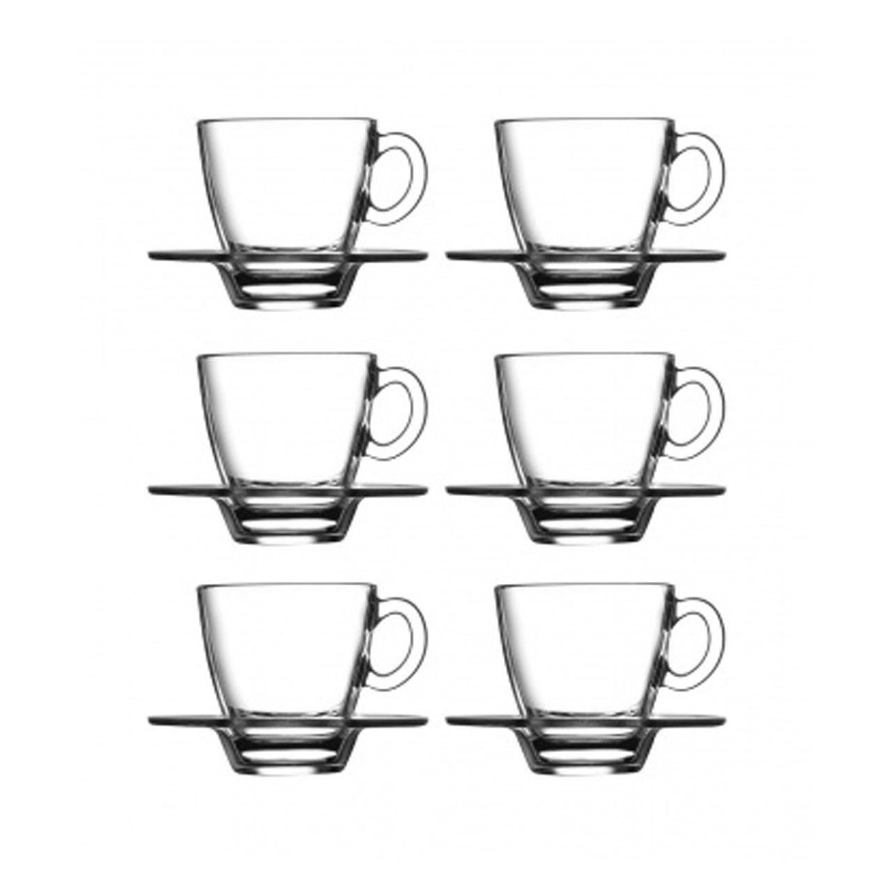 عکس ست فنجان و نعلبکی پاشاباغچه مدلAqua کد 95756 -بسته 6 عددی