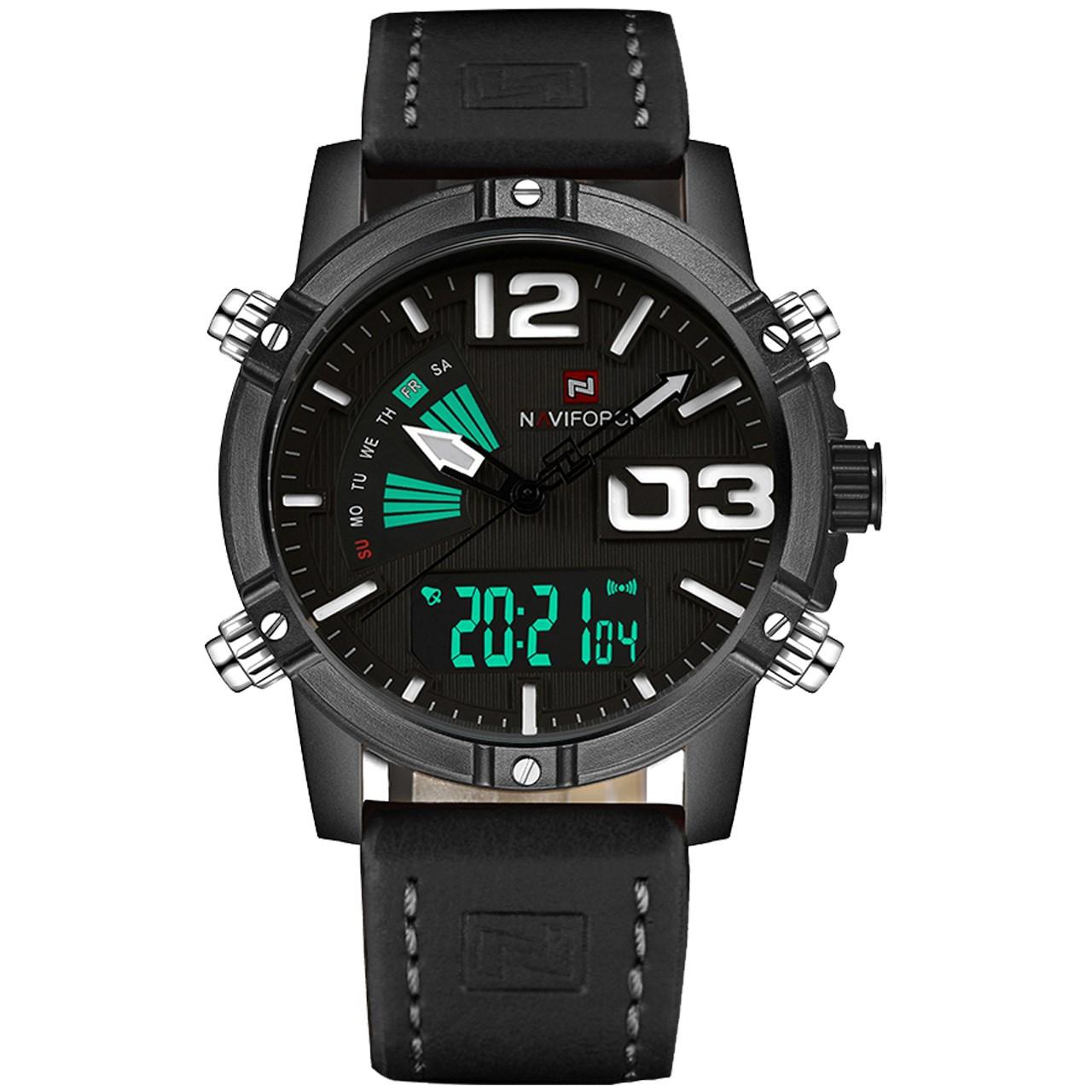 قیمت و خرید                      ساعت مچی عقربه ای مردانه نیوی فورس مدل NF9095M/GBW