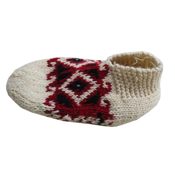 جوراب پشمی مدل گیوه