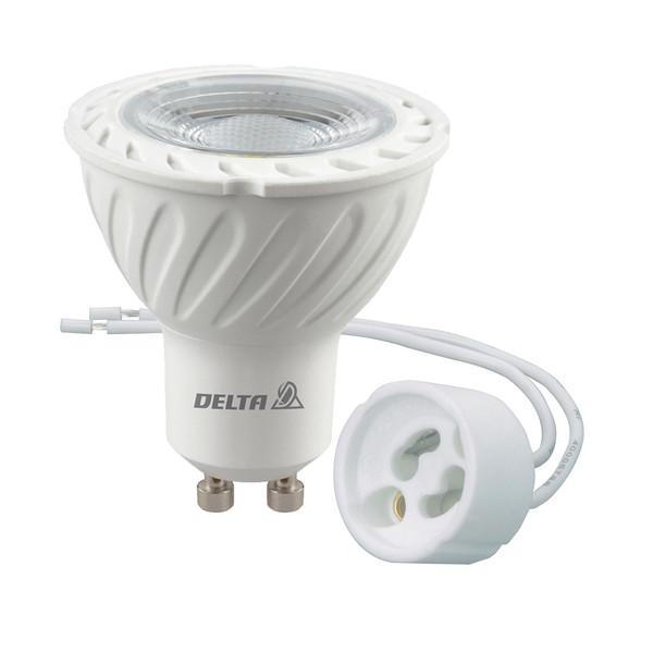 لامپ ال ای دی 6 وات دلتا مدل هالوژن پایه GU10 به همراه سوکت GU10