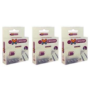 کاندوم ایکس دریم مدل Sword مجموعه 3 عددی