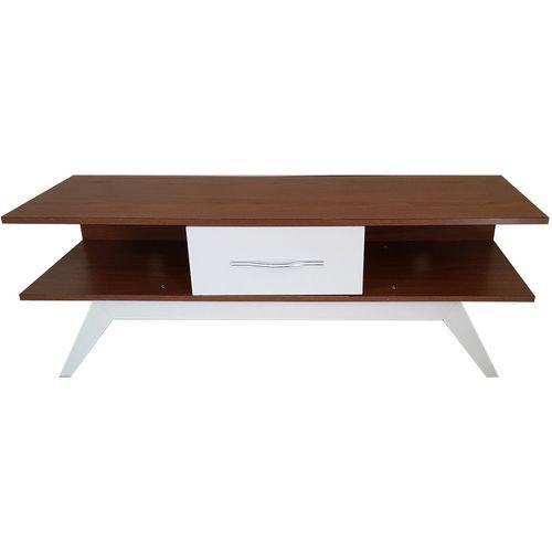 میز تلویزیون برتاریو مدل E131 قهوه ای سفید