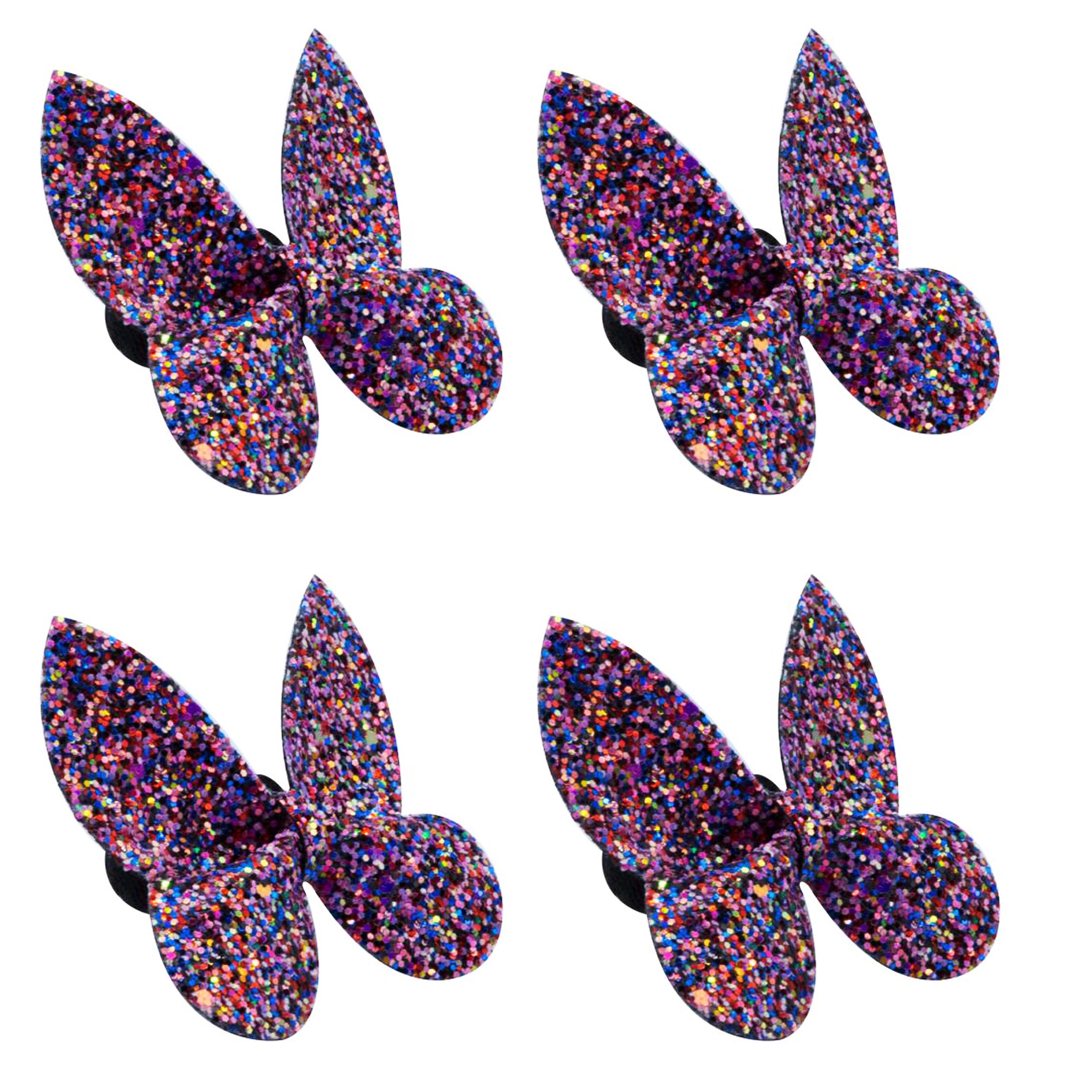 کش مو دخترانه مدل پروانه کد A50 بسته 4 عددی