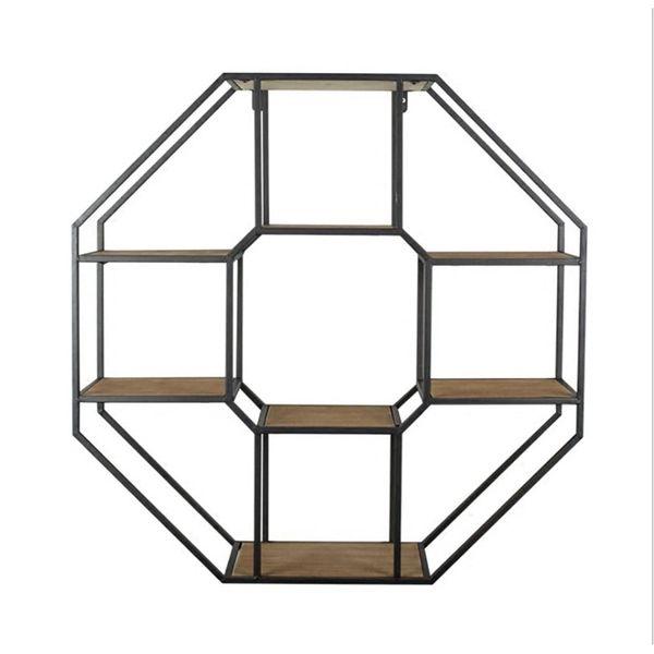 شلف دیواری مدل هشت ضلعی کد SHD63
