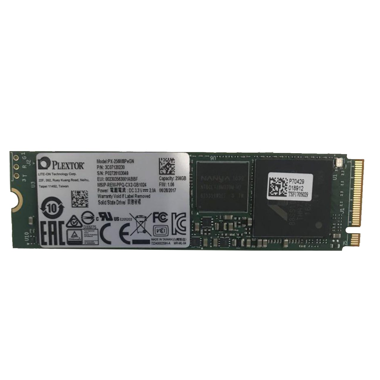 حافظه SSD پلکستور مدل M8Pe NVMe M.2 2280 ظرفیت 256 گیگابایت