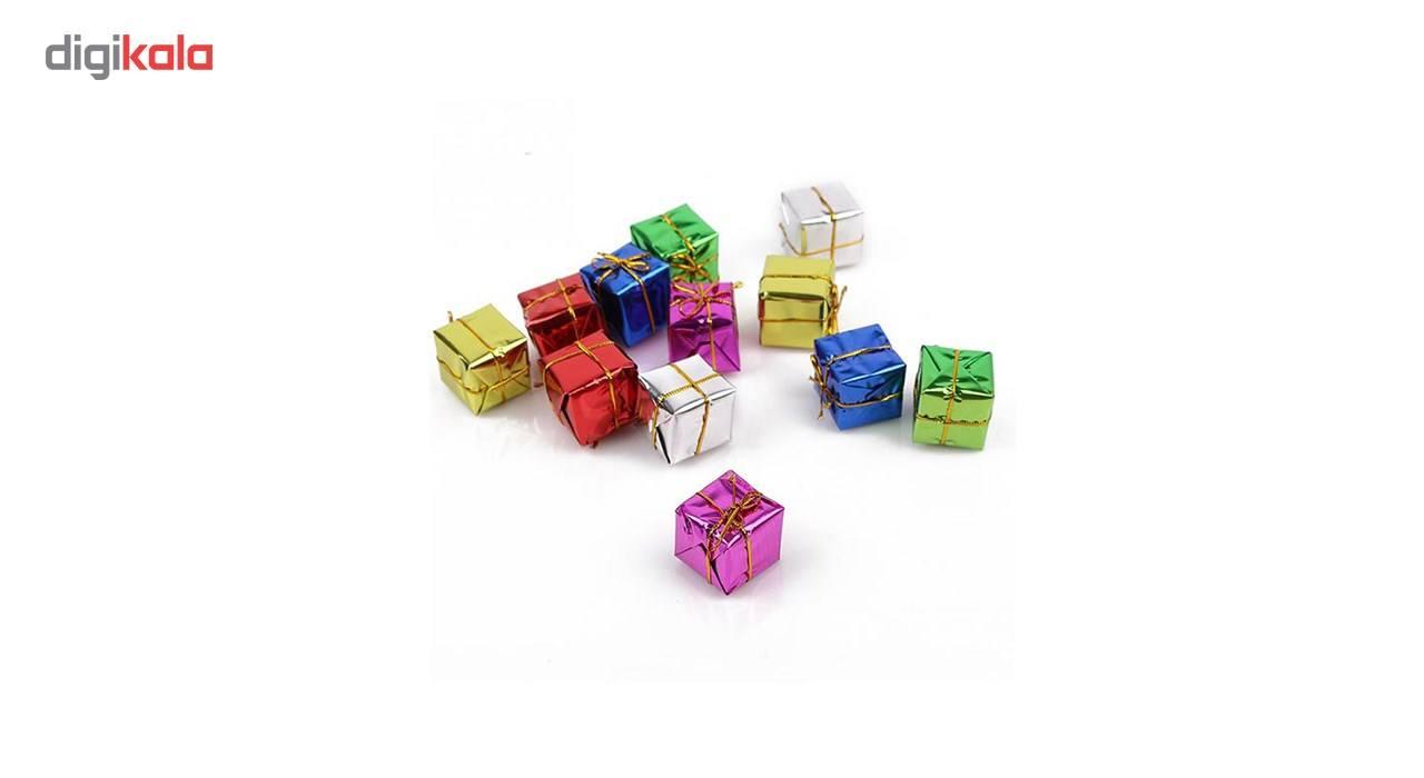 آویز درخت کریسمس سورتک مدل جعبه کادو بسته 12 عددی main 1 1