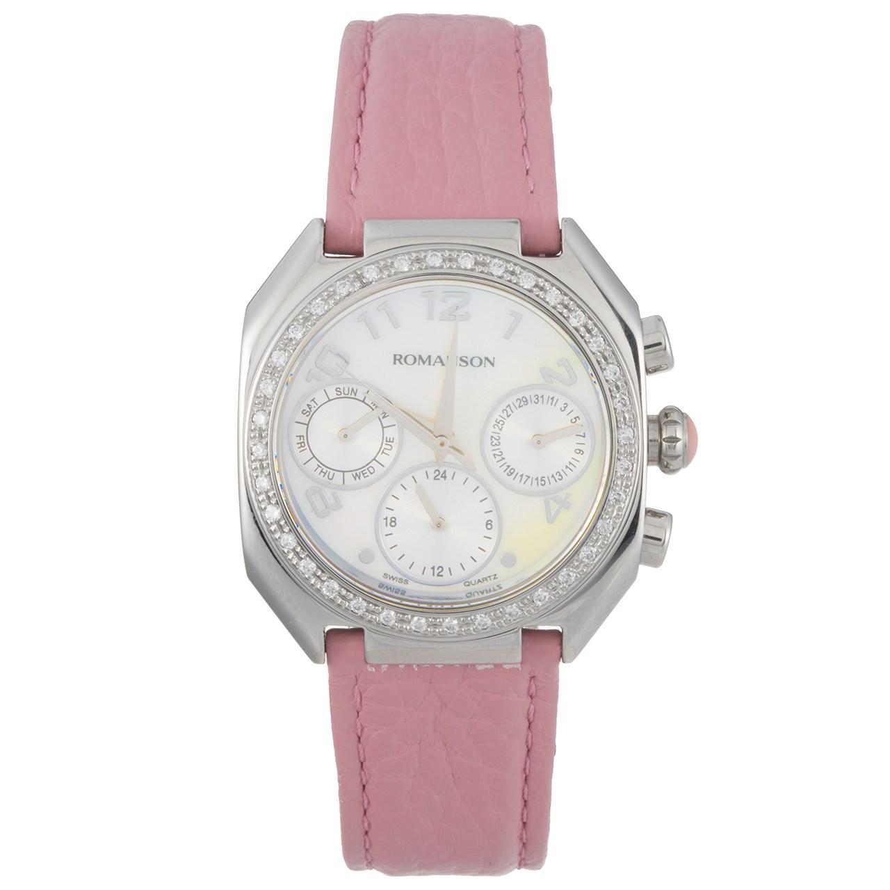 ساعت مچی عقربه ای زنانه رومانسون مدل RL1208BL2WM12W 47