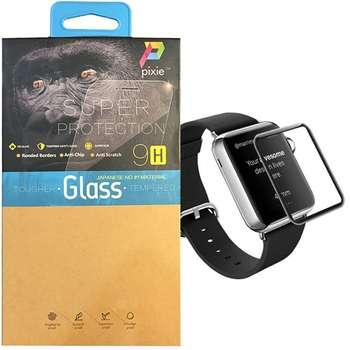 محافظ صفحه نمایش تمام چسب شیشه ای پیکسی  مدل 2.5D   مناسب اپل واچ سایز 42 میلی متر