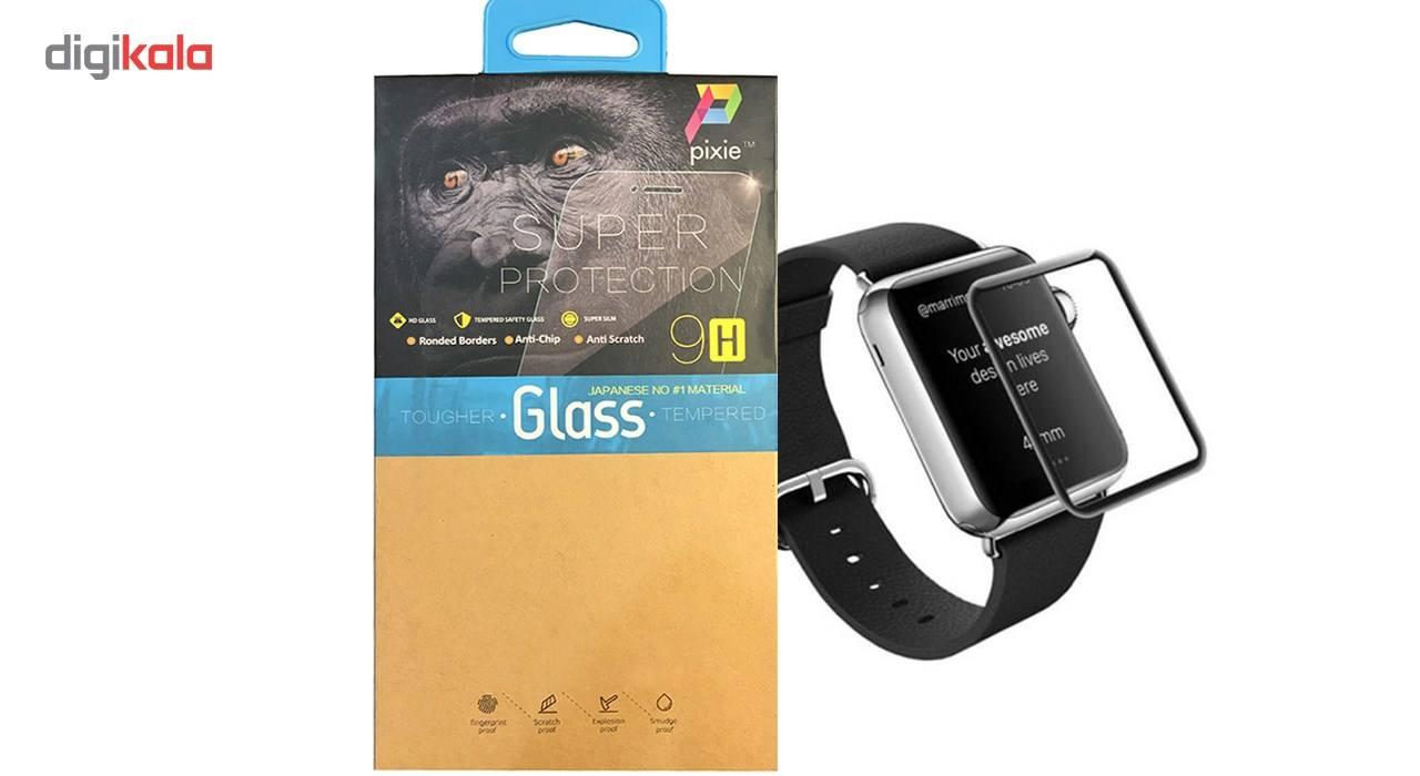 محافظ صفحه نمایش تمام چسب شیشه ای پیکسی  مدل 2.5D   مناسب اپل واچ سایز 42 میلی متر main 1 1