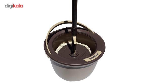 سطل و زمین شوی چرخشی هوم جوی مدل M7