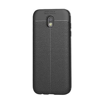 کاور ژله ای طرح چرم مناسب برای گوشی موبایل سامسونگ J3 Pro / J330