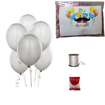 پک بادکنک آرایی آقای هدیه مدل لاتکسی Helium Quality  بسته 25 عددی