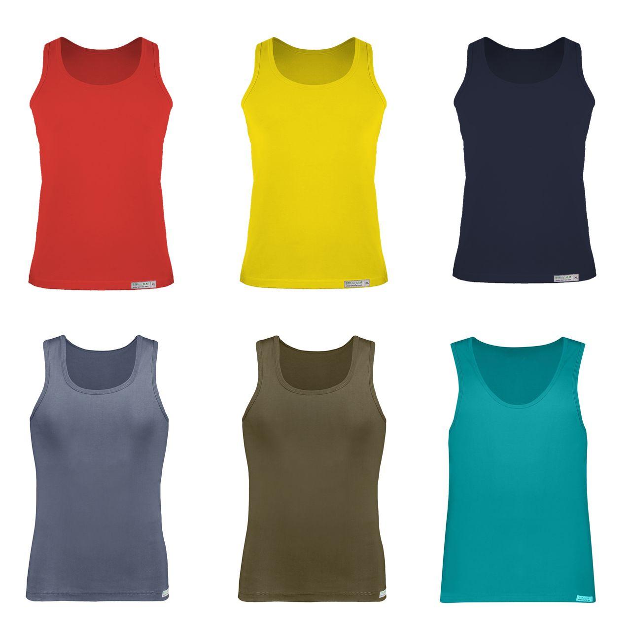 زیرپوش مردانه برهان تن پوش مدل 01-R-6 مجموعه 6 عددی