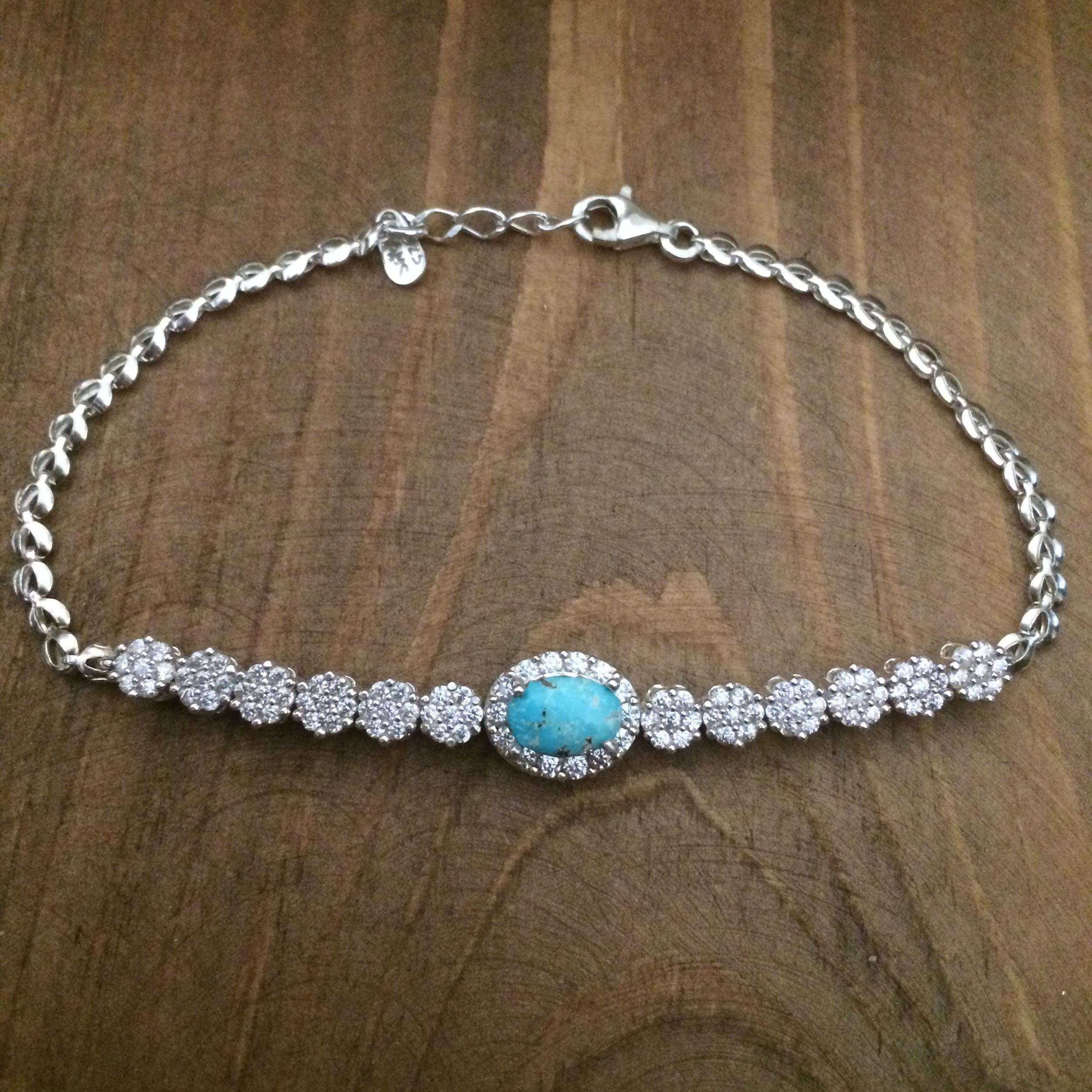 دستبند نقره زنانه  کد 3032