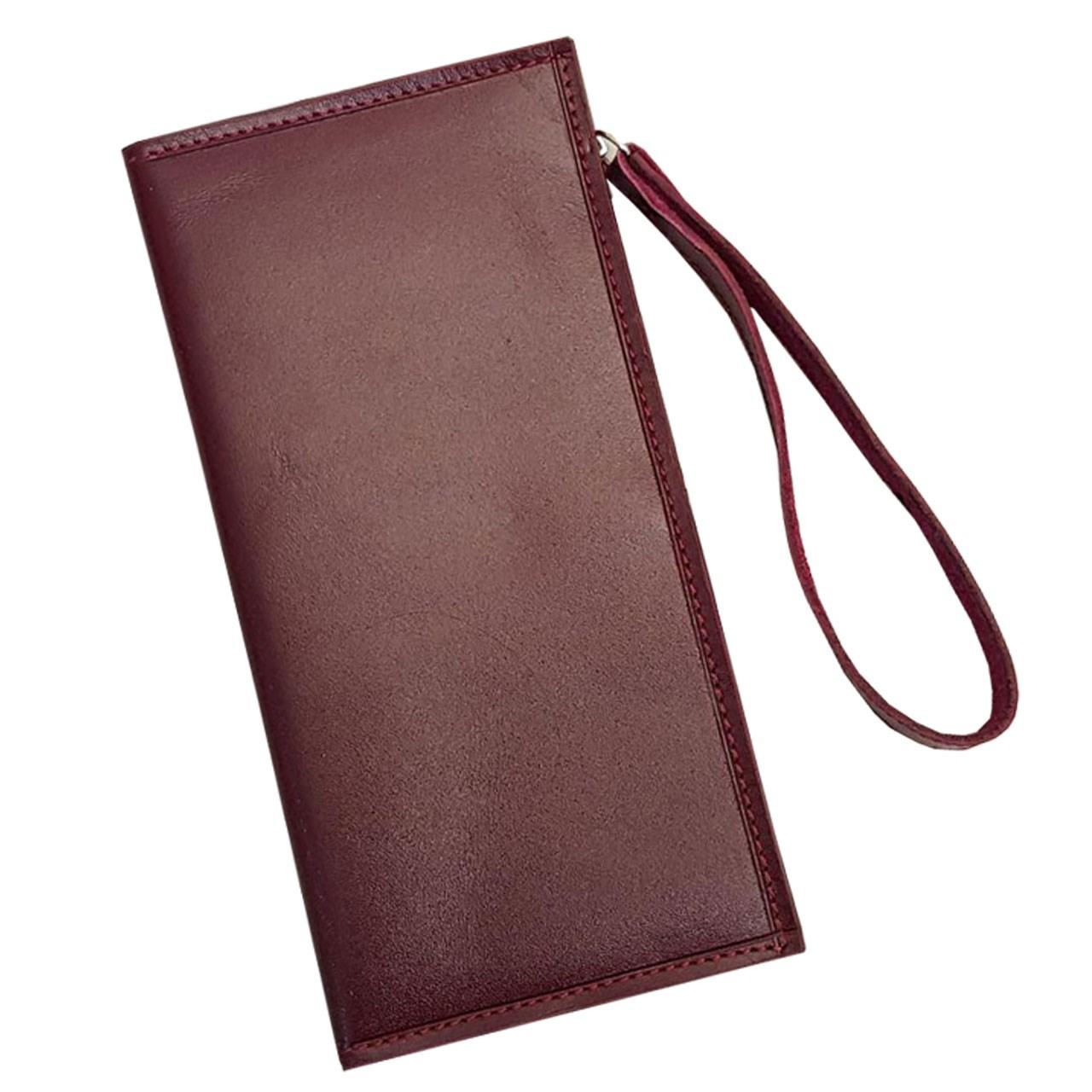 کیف پول و موبایل چرم آنیل