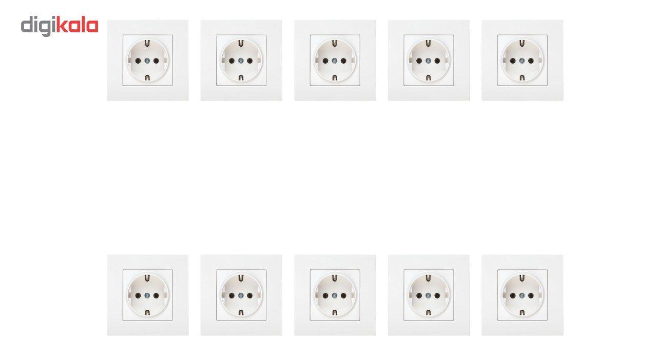 پریز برق ارت دار دلند مدل آسا بسته 10 عددی main 1 1