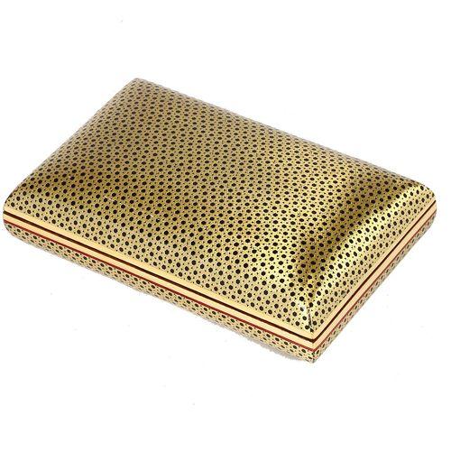 جعبه جواهر خاتم کاری گالری گوهران مدل طلایی 1202