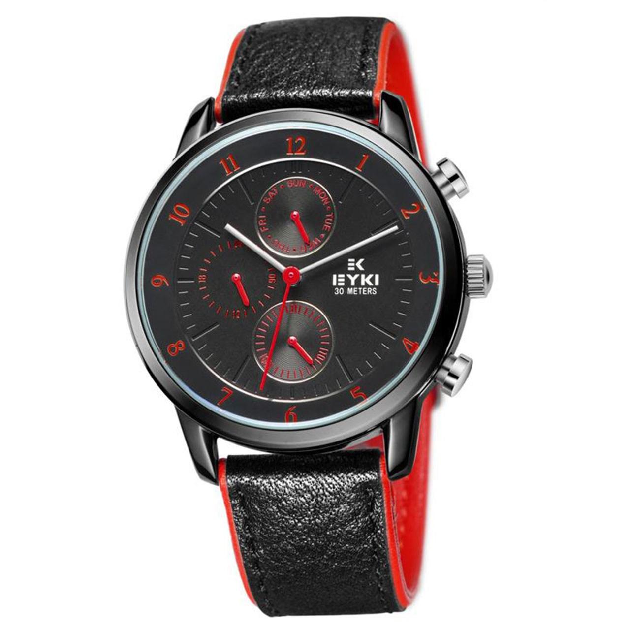 ساعت مچی عقربه ای مردانه ایکی مدل EOVS8732L-RED