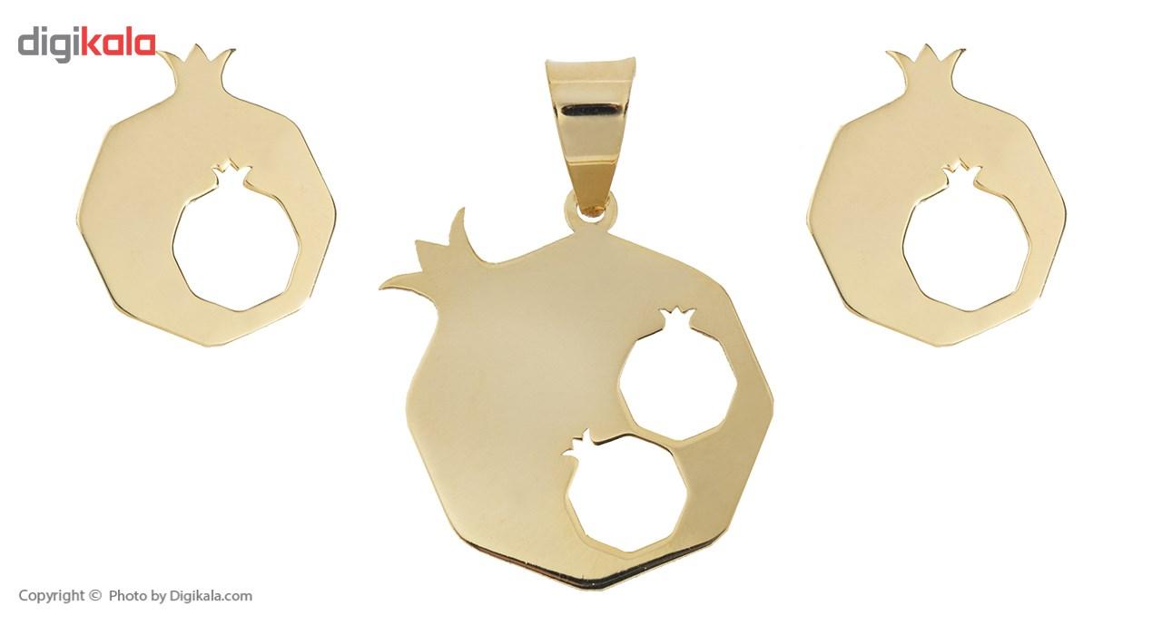 نیم ست طلا 18 عیار ماهک مدل MS0056 - مایا ماهک main 1 1