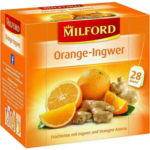 بسته دمنوش میوه ای میلفورد مدل Orange - Ingwer