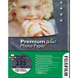 کاغذ عکس فوجی مدل Premium Plus سایز A4 بسته 20 عددی