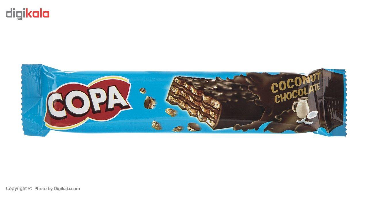 ویفر کاکائویی با کرم نارگیلی کوپا مقدار 32 گرم main 1 1