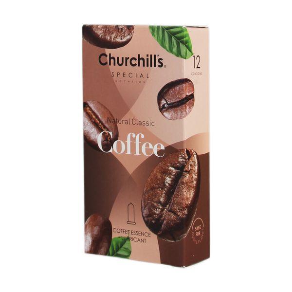 کاندوم چرچیلز مدل Coffee بسته 12 عددی