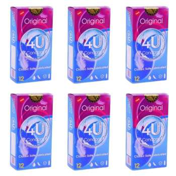 کاندوم فور یو مدل Original مجموعه 6 عددی