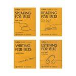 کتاب Collins Reading, Writing, Speaking, Listening For IELTS اثر جمعی از نویسندگان انتشارات زبان مهر 4 جلدی