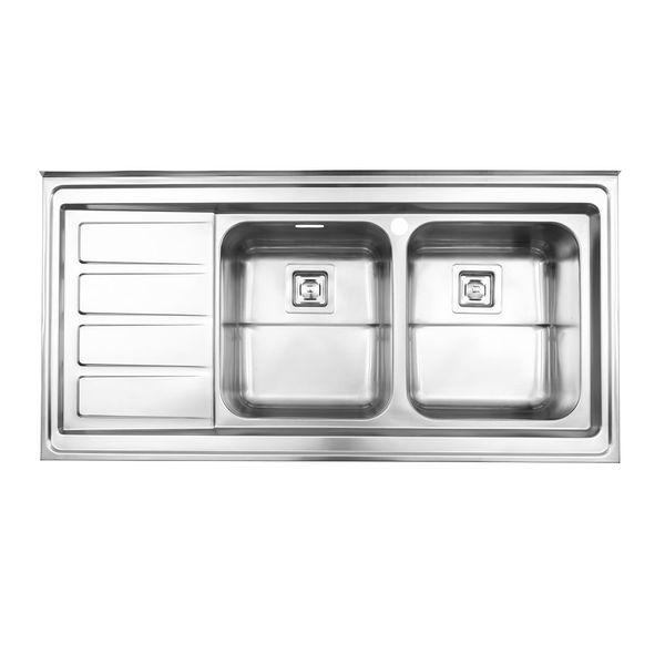 سینک ظرفشویی استیل البرز مدل 764 روکار
