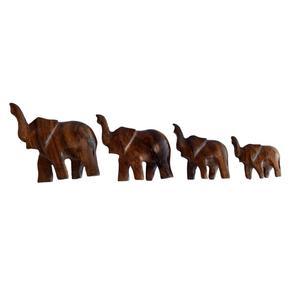 مجسمه چوبی طرح فیل مجموعه 4 عددی