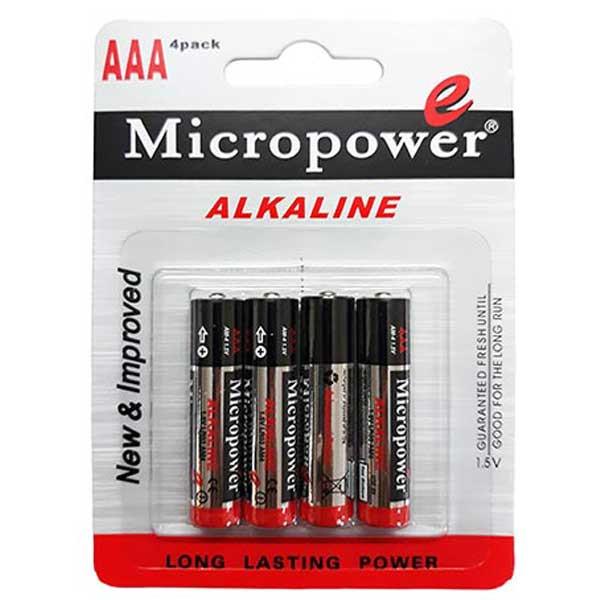 باتری نیم قلمی میکروپاورمدل AM-4بسته 4 عددی