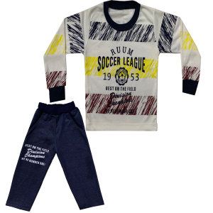 ست تی شرت و شلوار پسرانه کد 021