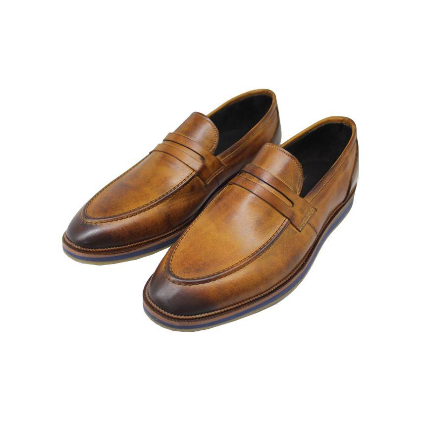 کفش روزمره مردانه چرم آرا مدل sh025  -  - 8
