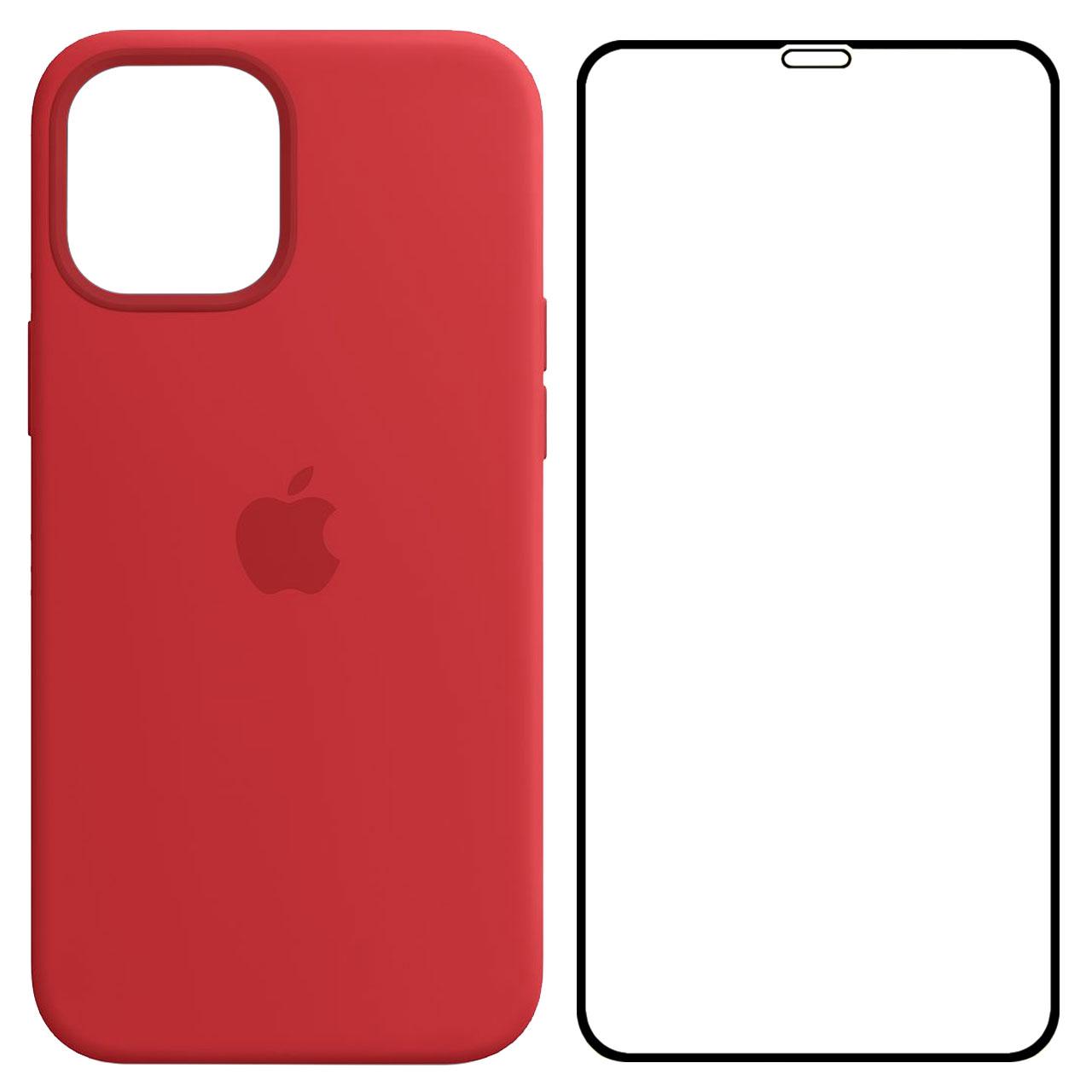 کاور مدل SLCN مناسب برای گوشی موبایل اپل iPhone 12 Pro Max به همراه محافظ صفحه نمایش