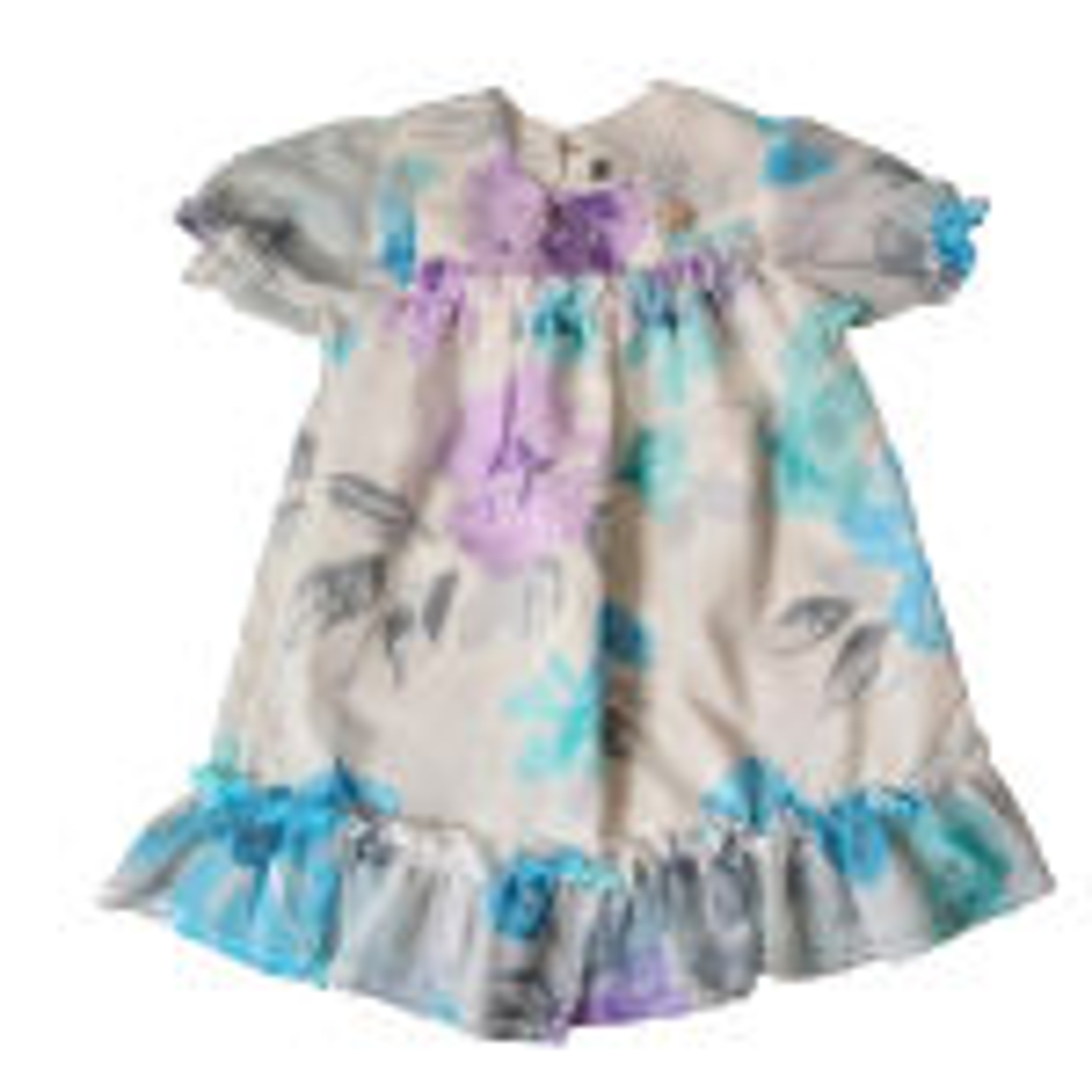پیراهن دخترانه مدل گل بانو کد ab1