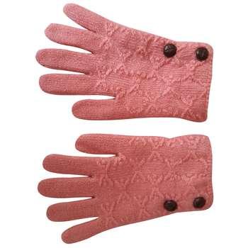 دستکش بافتنی دخترانه  کد 17