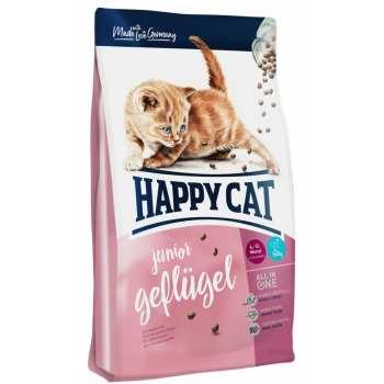 غذای خشک گربه هپی کت مدل Junior Poultry وزن ۴ کیلوگرم
