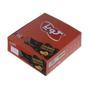 ویفر کاکائویی کوپا با طعم پرتقال - 40 گرم بسته 12 عددی