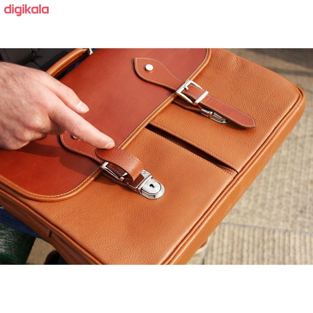 کیف اداری مردانه چرم بیسراک مدل مارال کد Ed-502 main 1 10