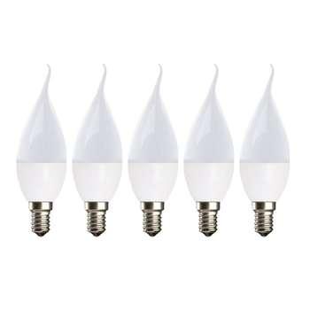لامپ ال ای دی 7 وات مدل C37W پایه E14 بسته 5 عددی
