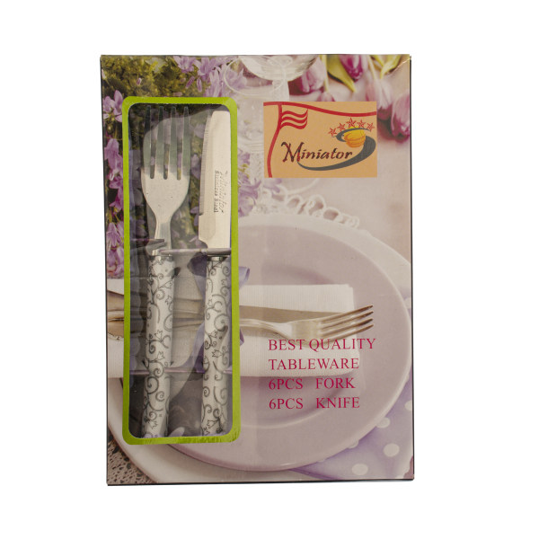 ست کارد و چنگال میوه خوری 12 پارچه مینیاتور کد sT4